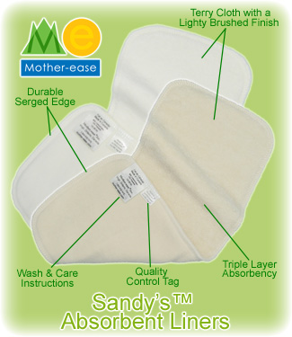 Mother-ease Sandy's Absorbent Liners